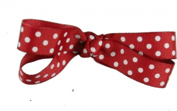 Red with White Polka Dots Hair Bow