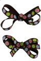 Piggytails Chocolate Brown Polka Dots Bow