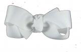 White Grosgrain Small Hair Bow