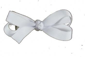 White Baby Hair Bow