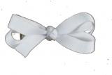 White Baby Hair Bow
