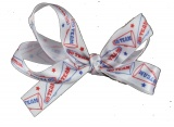 Small Red White Blue Cheer Hair Bow