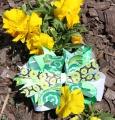 Emerald Green Flower Paisley Pinwheel Hair Bow