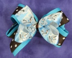 Olaf Snowman with Polka Dots Hair Bow