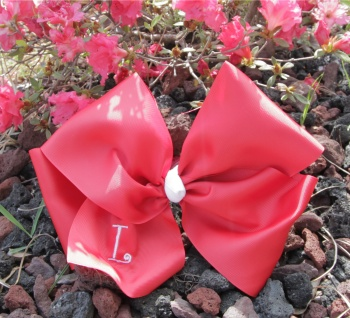 Red Grosgrain Oversized Hair Bow