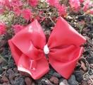 Red Grosgrain Oversized Hair Bow