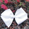 White Grosgrain Oversized Hair Bow