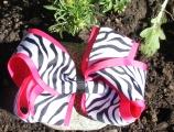 Shocking Pink Zebra Print Double Layered Hair Bow