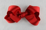 Large Red Grosgrain Hair Bow