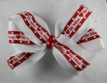 Double Layer Valentine White Red BE MINE Bow