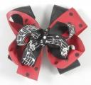 Black Red Polka Dots Music Notes