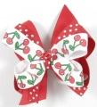 Red Cherries Polka Dots Hair Bow