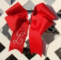 Red Grosgrain Long Tail Cheer Bow for Girl's