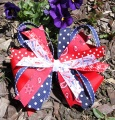 Red Spirit Polka Dot Cheer Pinwheel Hair Bow