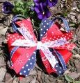 Red Spirit Polka Dot Cheer Pinwheel Hair Bow