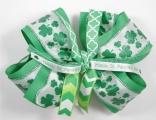 St Patrick's Day Green Shamrock Hair Bow