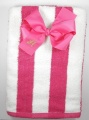 Shocking Pink Beach Towel and Matching Hair Bow Set