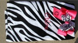 Hot Pink Zebra Bow Set  and Zebra Print Beach Towel Set